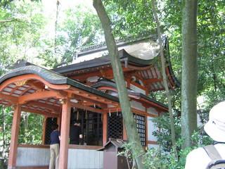 22 八坂神社境内案内。疫神社の外観です。驚きのお話でしたね。.JPG