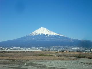いちばん美しい富士山でした。1月27日、東京講座への車中にて.JPG