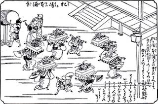 本涌寺で行われていた題目踊り.jpg